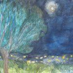 עצים בלילה